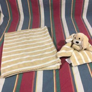 Blanket w/plush toy